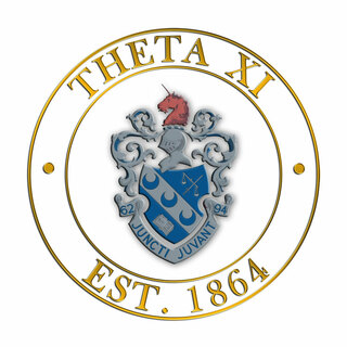 Theta Xi Circle Crest - Shield Decal