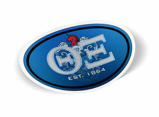 Theta Xi Color Oval Decal