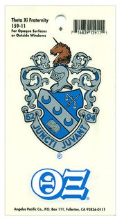 Theta Xi Crest - Shield Decal