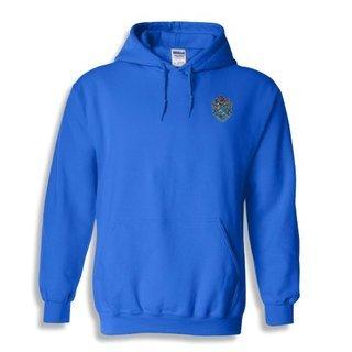 DISCOUNT-Theta Xi Crest - Shield Emblem Hooded Sweatshirt