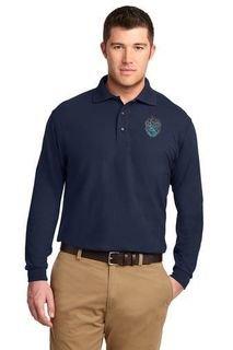 DISCOUNT-Theta Xi Crest - Shield Emblem Long Sleeve Polo