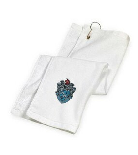 DISCOUNT-Theta Xi Crest - Shield Golf Towel
