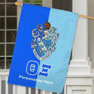 Theta Xi Crest House Flag
