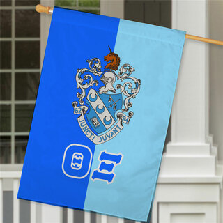 Theta Xi Crest House Flag