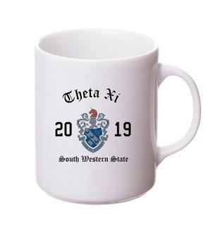 Theta Xi Crest & Year Ceramic Mug