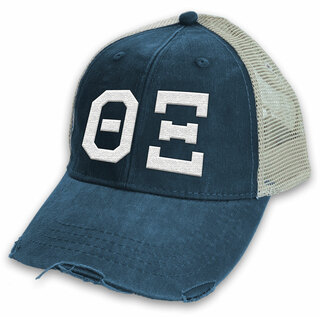 Theta Xi Distressed Trucker Hat