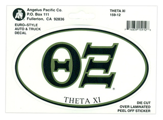 Theta Xi Euro Decal Oval Sticker