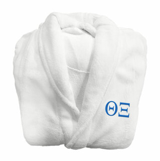 Theta Xi Fraternity Lettered Bathrobe