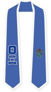 Theta Xi Greek 2 Tone Lettered Graduation Sash Stole