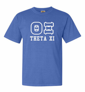 Theta Xi Greek Outline Comfort Colors Heavyweight T-Shirt