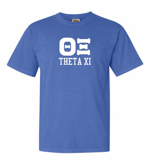 Theta Xi Greek Custom Comfort Colors Heavyweight T-Shirt