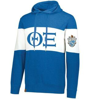 Theta Xi Ivy League Hoodie W Crest On Left Sleeve