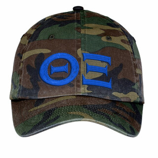 Theta Xi Lettered Camouflage Hat