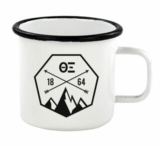 Theta Xi Metal Camping Mug