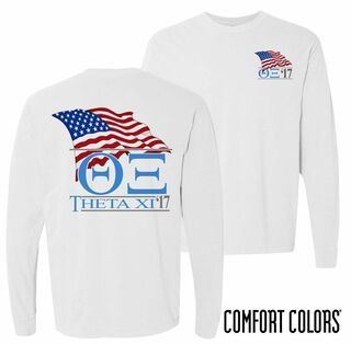 Theta Xi Patriot Long Sleeve T-shirt - Comfort Colors