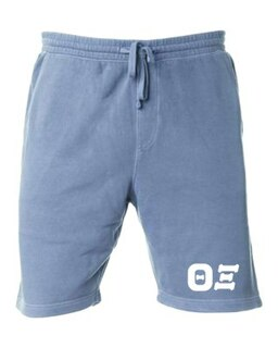 Theta Xi Pigment-Dyed Fleece Shorts