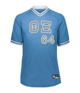 Theta Xi Retro V-Neck Baseball Jersey
