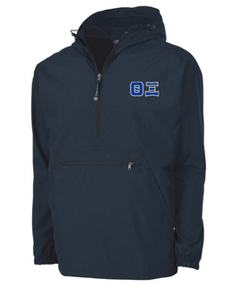 Theta Xi Tackle Twill Lettered Pack N Go Pullover