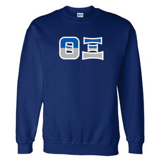 Theta Xi Two Tone Greek Lettered Crewneck Sweatshirt