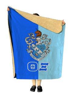 Theta Xi Two Tone Two Tone Sherpa Lap Blanket
