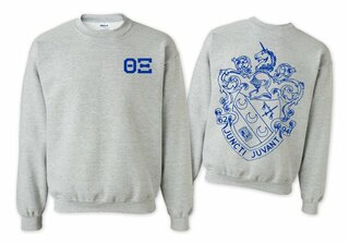 Theta Xi World Famous Crest - Shield Printed Crewneck Sweatshirt- $25!