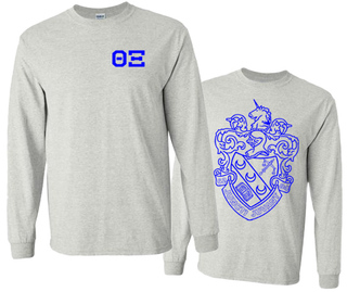 Theta Xi World Famous Crest - Shield Long Sleeve T-Shirt- $19.95!
