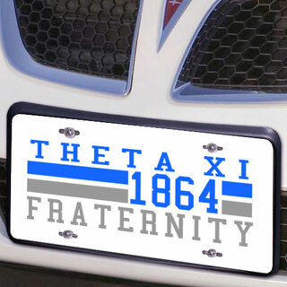Theta Xi Year License Plate Cover