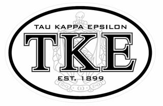 Tau Kappa Epsilon Oval Crest - Shield Sticker - CLOSEOUT