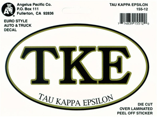 Tau Kappa Epsilon Oval Euro Decal