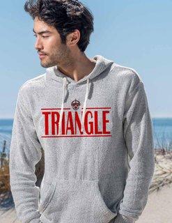 Triangle Line Crest Lucas Loop Fleece Hood