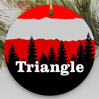Triangle Christmas Mountains Round Ornaments