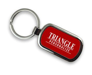Triangle Chrome Custom Keychain