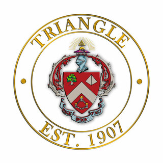 Triangle Circle Crest - Shield Decal
