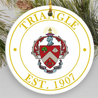 Triangle Circle Crest Round Ornaments
