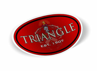 TRIANGLE Color Oval Decal