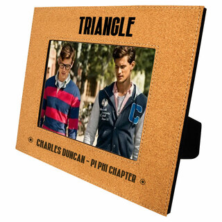 Triangle Cork Photo Frame