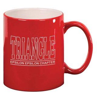 Triangle Custom Ceramic Coffee Mug