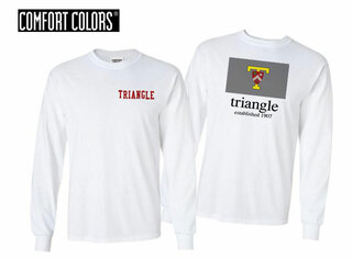 Triangle Flag Long Sleeve T-shirt - Comfort Colors