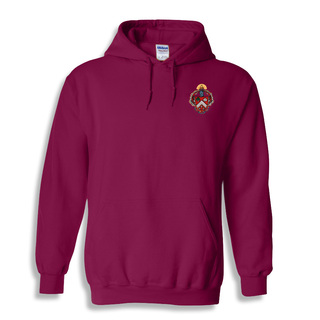 DISCOUNT-Triangle Fraternity Crest - Shield Emblem Hooded Sweatshirt