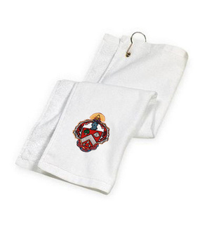DISCOUNT-Triangle Fraternity Crest - Shield Golf Towel