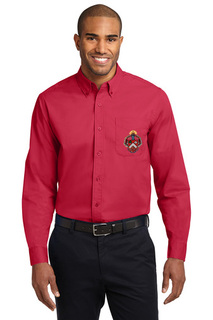 DISCOUNT-Triangle Fraternity Crest - Shield Long Sleeve Oxford