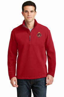 DISCOUNT-Triangle Fraternity Crest - Shield Patch 1/4 Zip Pullover
