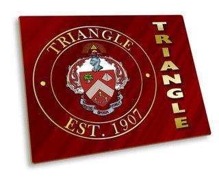 Triangle Fraternity Hard Mousepad