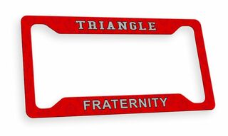 Triangle Fraternity Custom License Plate Frame