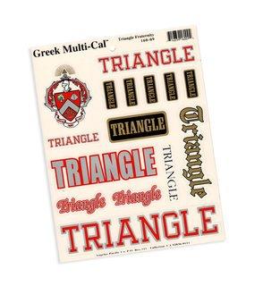 Triangle Fraternity Multi Greek Decal Sticker Sheet