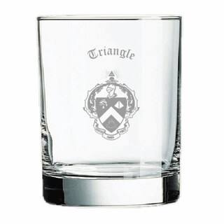 Triangle Fraternity Old Style Glass