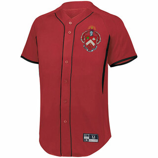 Triangle Game 7 Full-Button Baseball Jersey