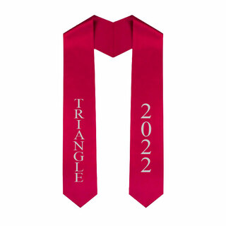 Triangle Greek Lettered Graduation Sash Stole With Year - Best Value