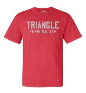 Triangle Greek Custom Comfort Colors Heavyweight T-Shirt