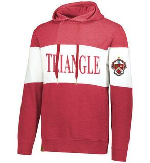 Triangle Ivy League Hoodie W Crest On Left Sleeve